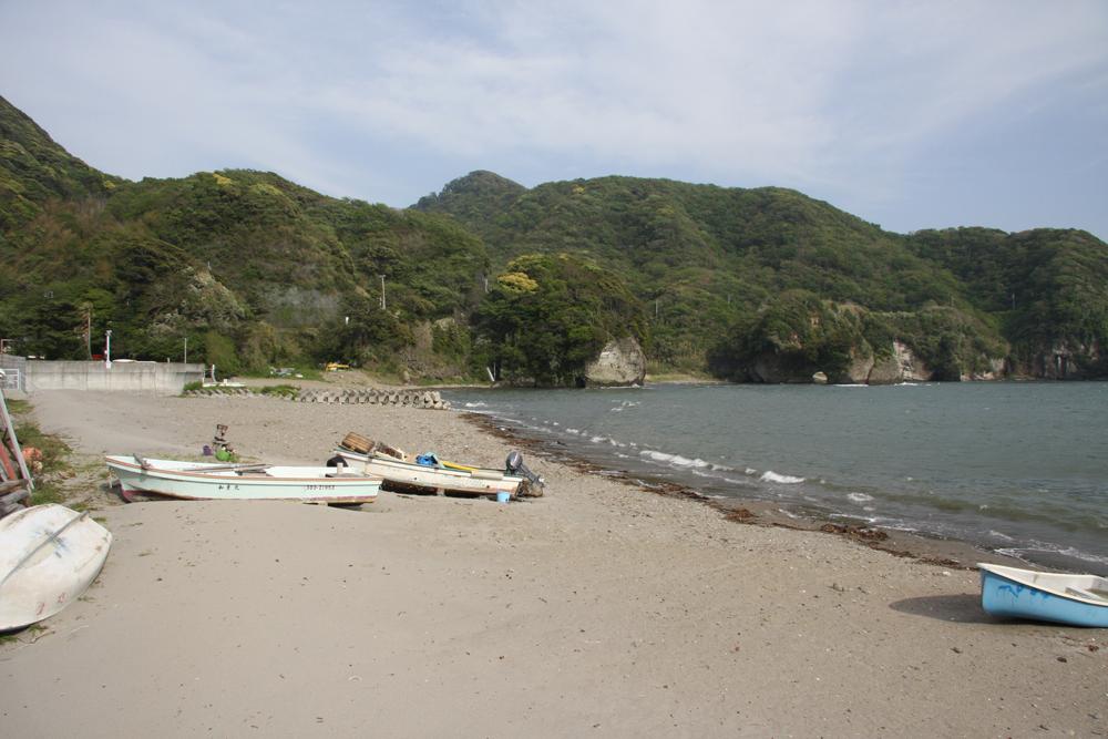 当宿の目の前が海岸の入り口です。